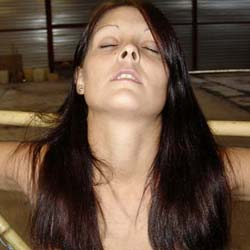 Roped and capturedshe s in a tight spot   and can t get out of her punishment.